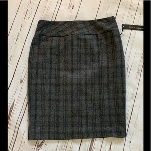 Dalia Collection Grey Wool Blend Pencil Skirt